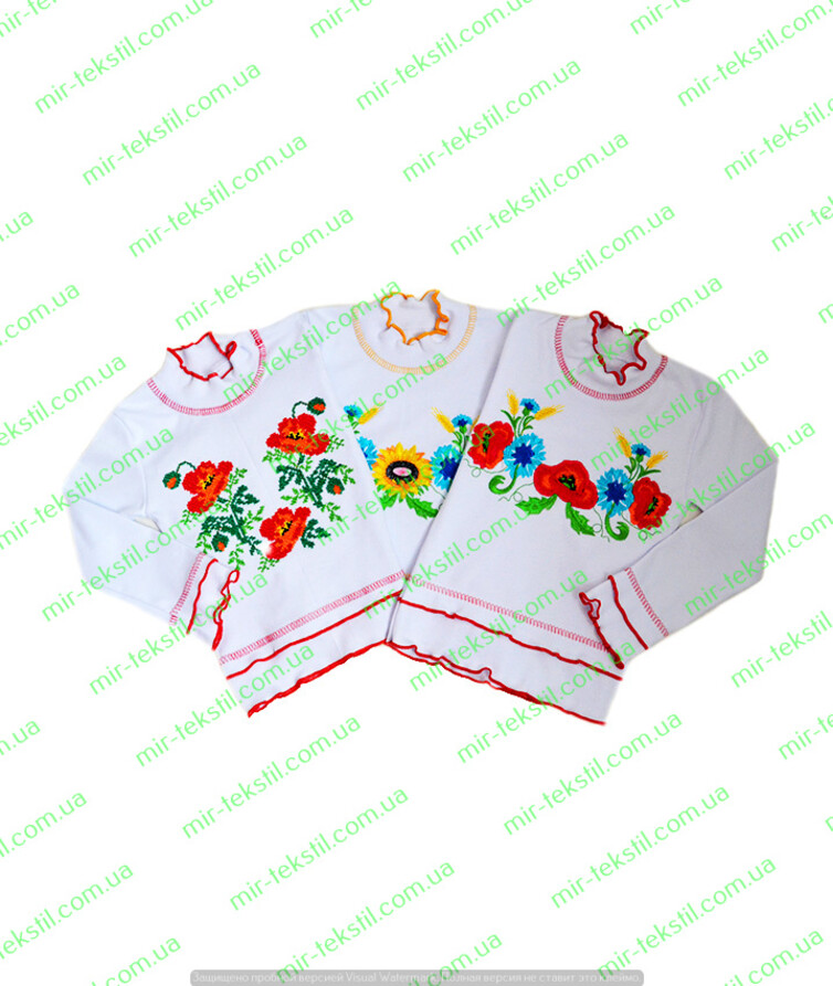 Вышиванка для девочки интерлок с вышивкой