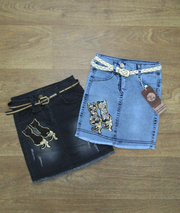 Детская джинсовая юбка для девочки Турция
