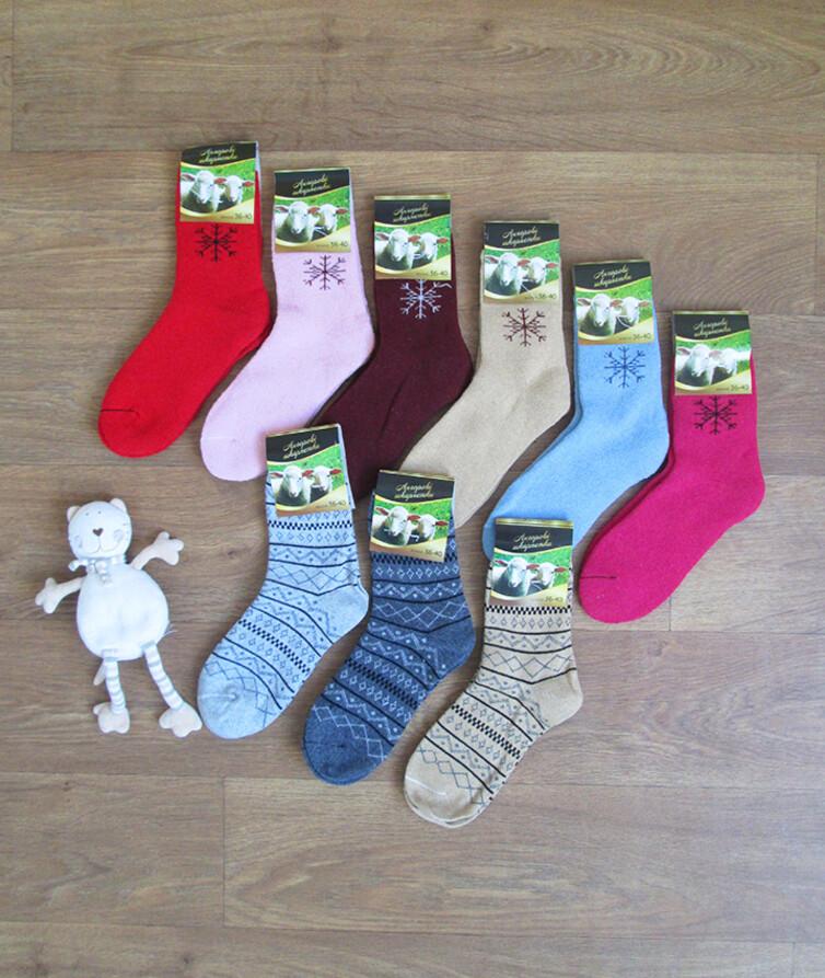 Ангоровые женские носки