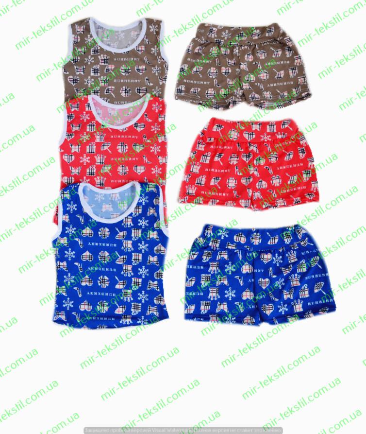 Костюм на лето для девочки с шортами вискоза цветная