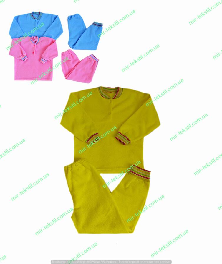Пижама детская махра однотонная