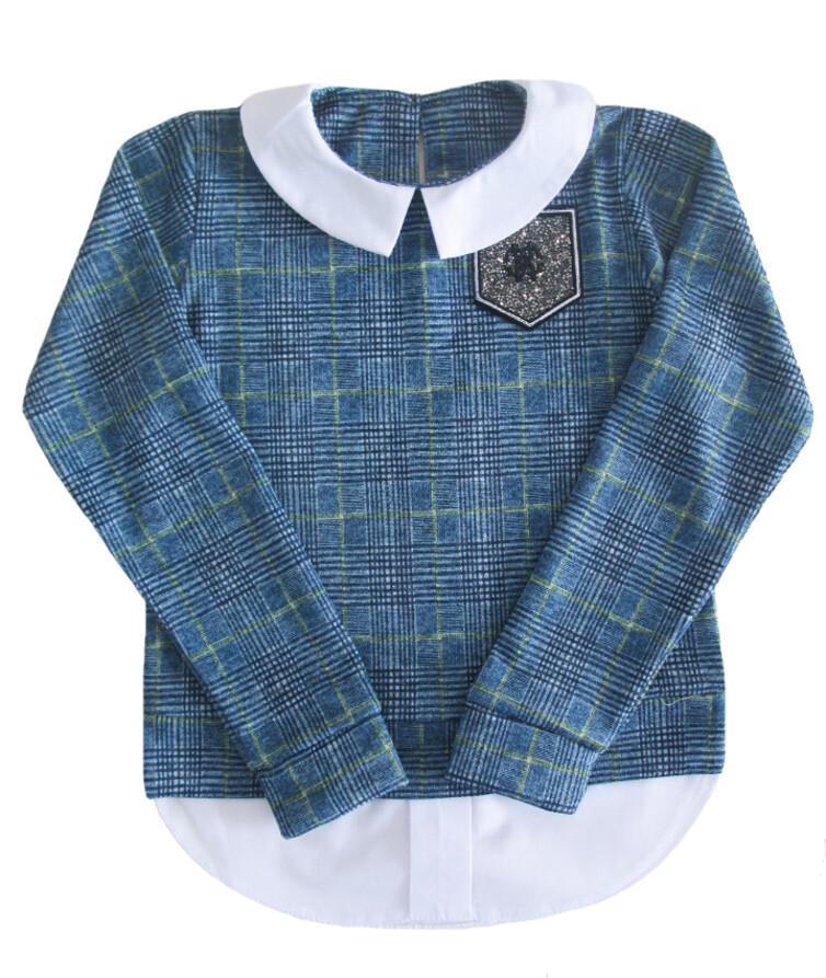 Школьная блузка на девочку с воротничком