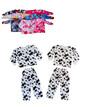 Детская теплая пижама велсофт цветной