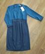 Платье для беременных с рукавом три четверти, шифон + трикотаж