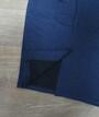 Женская юбка для беременных с розрезом (синяя)
