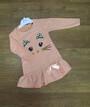 Детское платье с длинным рукавом Турция, коттон + люрекс