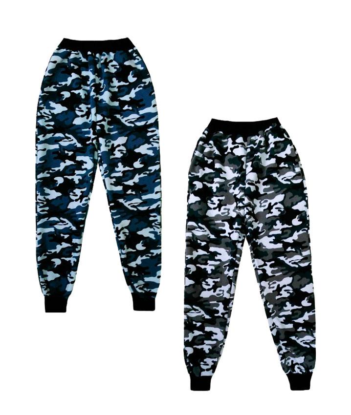 Камуфляжные мужские штаны трехнитка